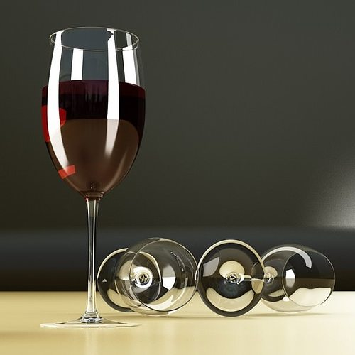 6 wine glass collection 3d model max obj 3ds fbx mtl mat 21