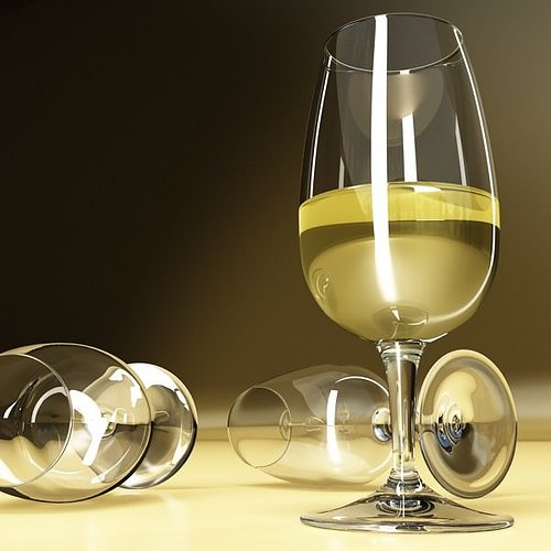 6 wine glass collection 3d model max obj 3ds fbx mtl mat 9