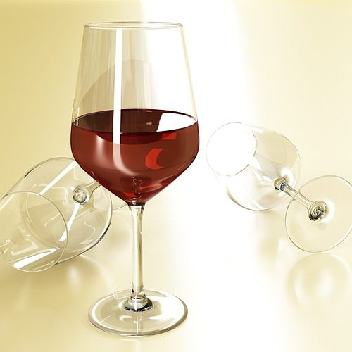 6 wine glass collection 3d model max obj 3ds fbx mtl mat 25