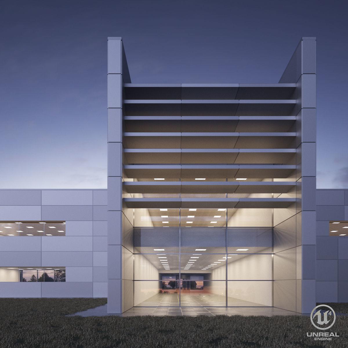 Office building - Technology Park facilities | 3D model