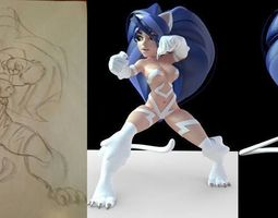 merged felicia  3d printable model