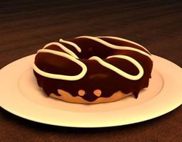 3d chocolate doughnut