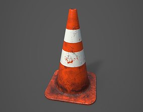 Traffic cone 3D asset