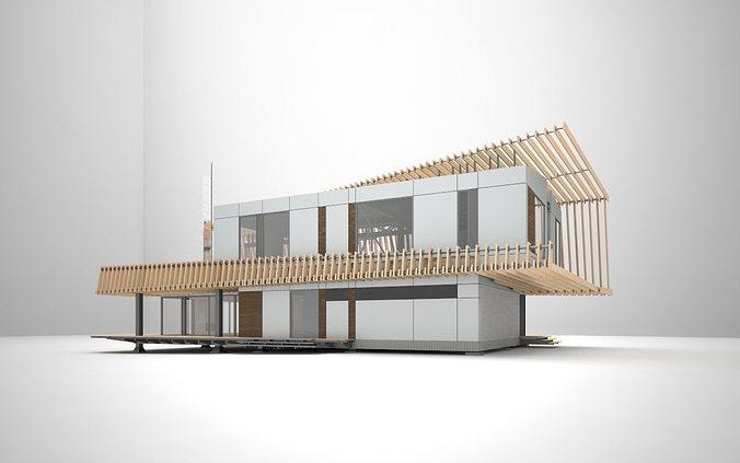 k3 house 3d model max 1