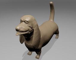 Bassset Hound 3D printable model