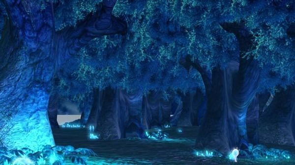 forest night view sence 3d model cgtrader