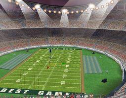 3D model VR / AR ready Football field