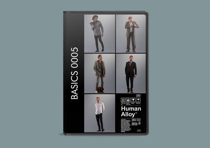 set of 3d men walking basics003 3d model max obj fbx skp mtl 1