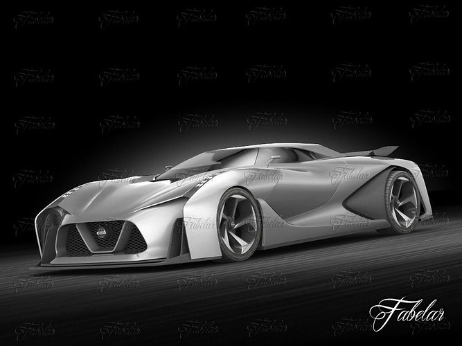 Nissan 2020 concept 3D model | CGTrader