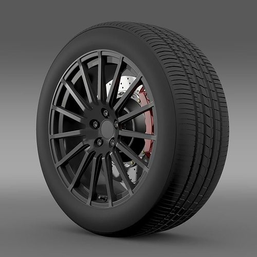 subaru brz sti wheel 3d model max obj mtl 3ds fbx c4d lwo lw lws 1