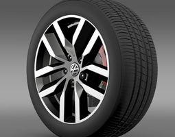3D Volkswagen Golf S wheel