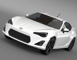 toyota 86 gt limited 2012 3d model