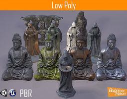 PBR Statues Pack 3D asset