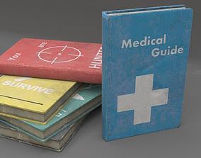 Survival Books 3D asset
