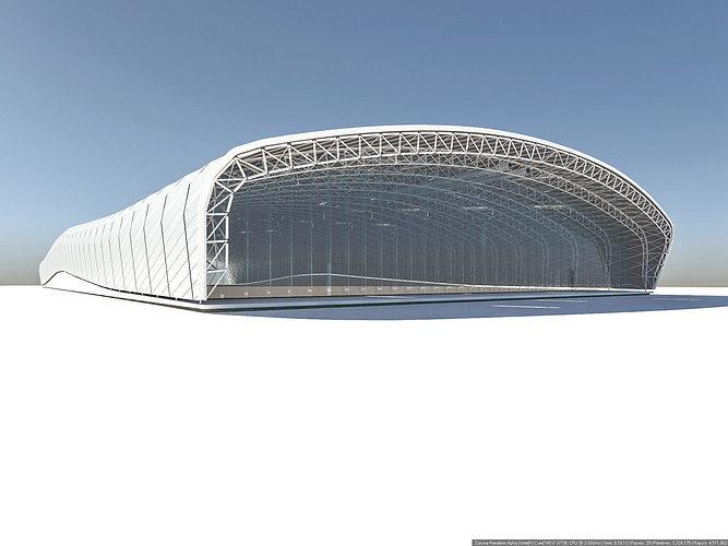 pavilion 3d model max fbx 1