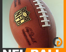 nfl official game ball 3d model max obj 3ds fbx c4d lwo lw lws