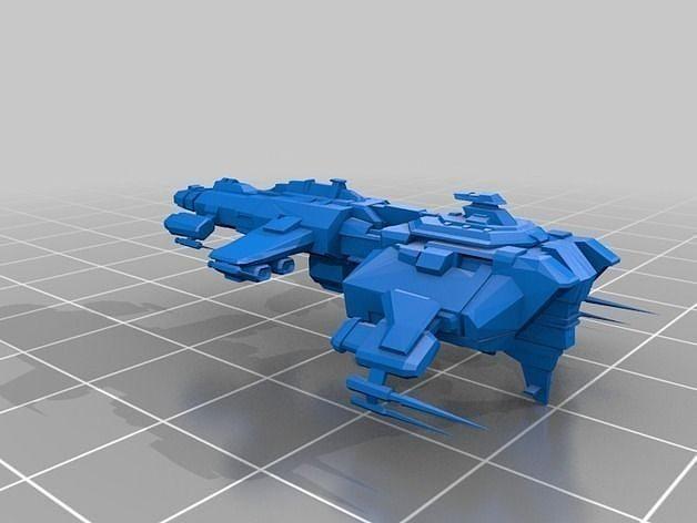 eve online ferox and naga caldari battlecruisers free 3d model 3d