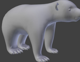 baby bear 3d model obj fbx blend dae mtl