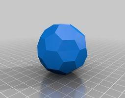 3D printable model buckyball extension