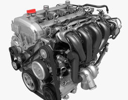 car 4 cylinder engine 01 3d
