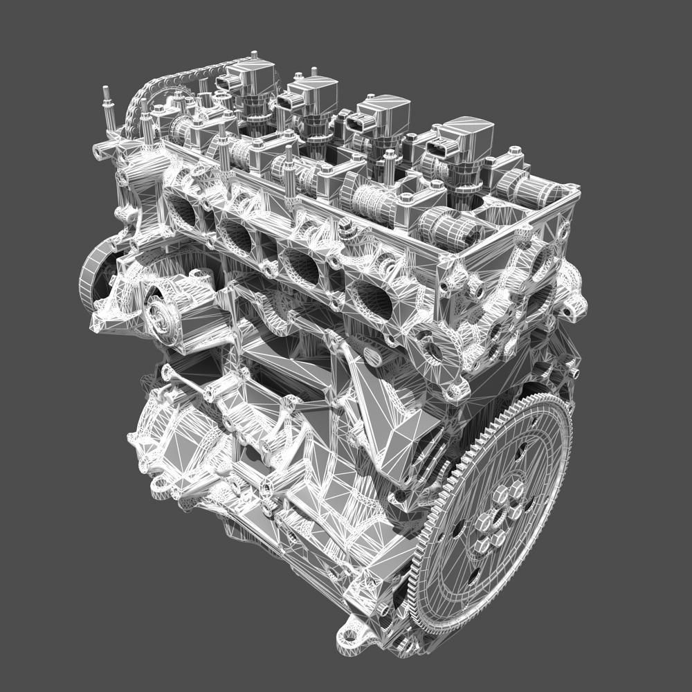 Toyota 4 Cylinder Engine 22RE Complete working model by