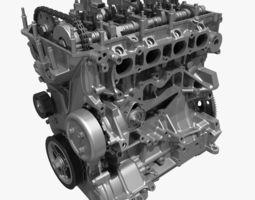 4 cylinder engine block 01 3d model max fbx