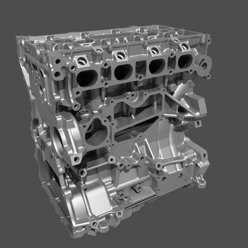 4 cylinder engine block 02 3d model max obj fbx. Black Bedroom Furniture Sets. Home Design Ideas