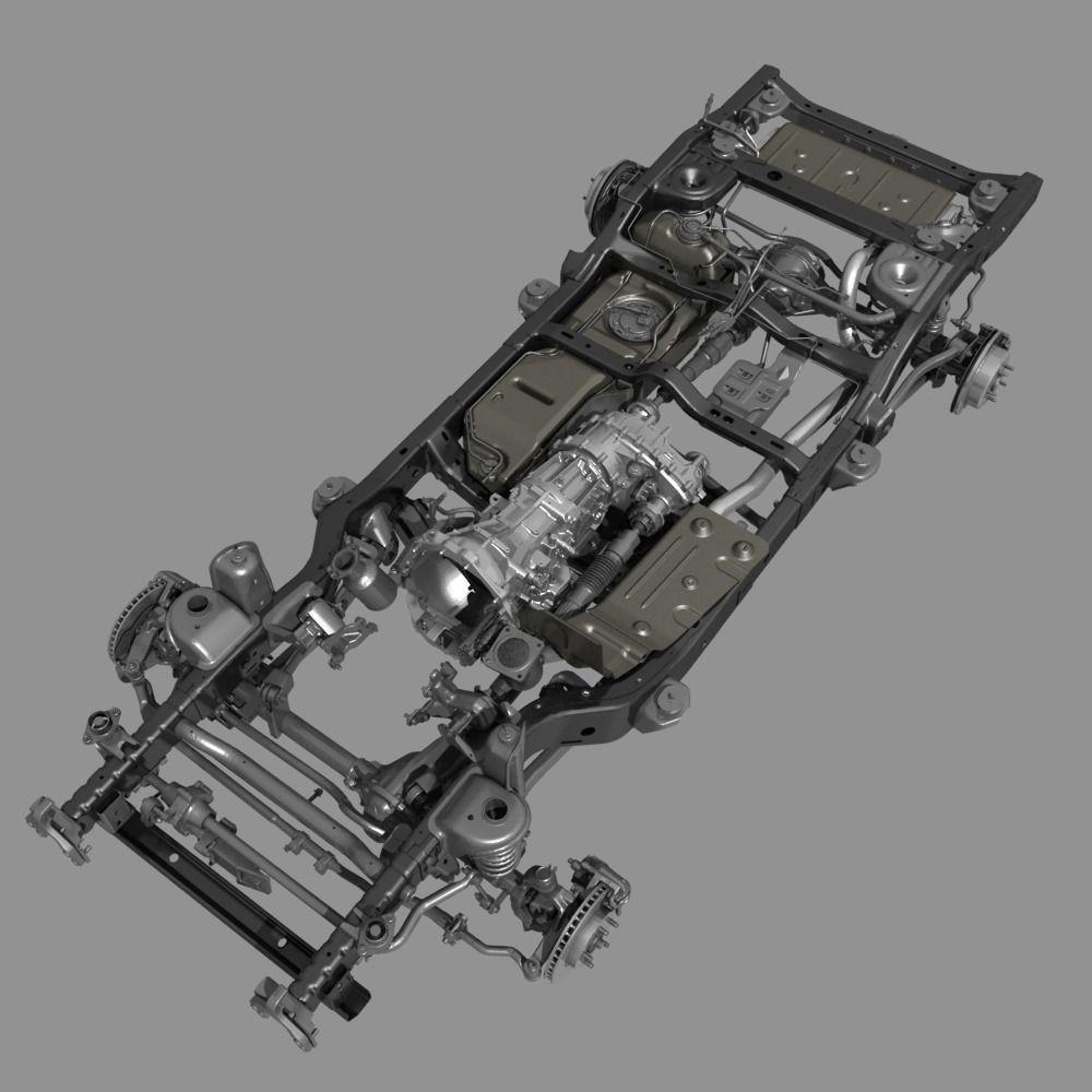Car Chassis 3D Model MAX OBJ FBX