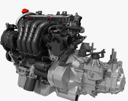 Engine with Transmission 3D model