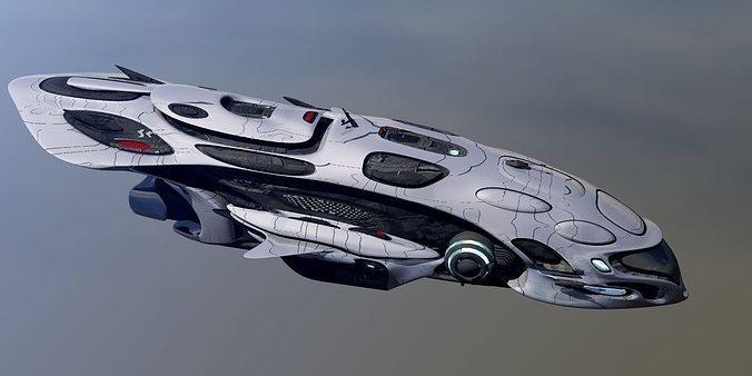 anunaki deep space patrol obj 3d model obj 1