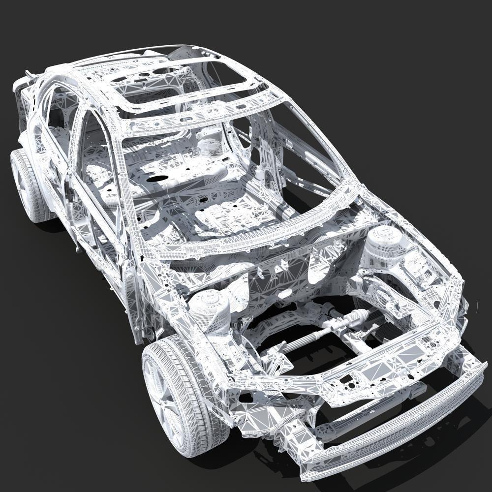 Design of car frame -  Car Frame 03 3d Model Max 26
