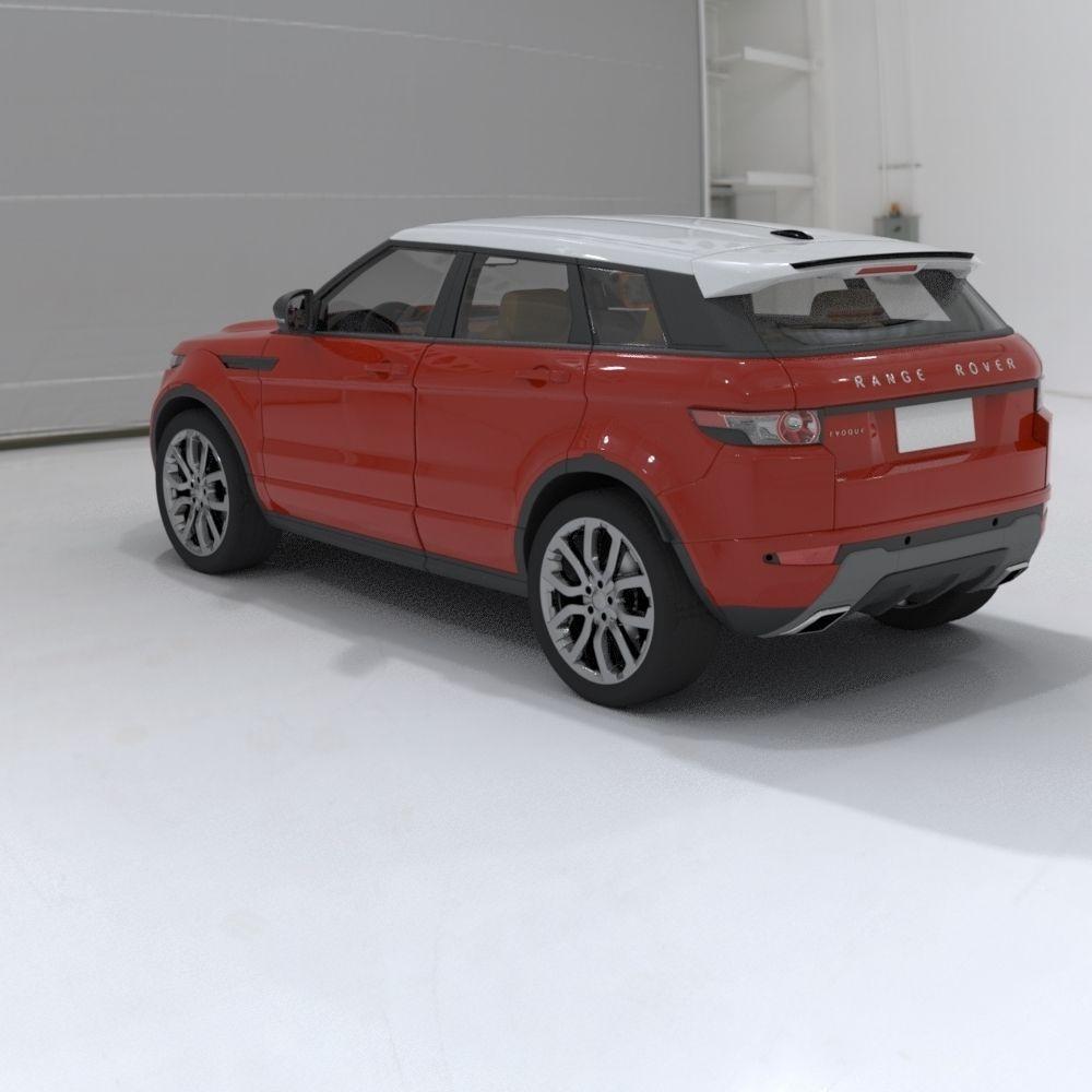 range rover evoque 3d model max obj. Black Bedroom Furniture Sets. Home Design Ideas
