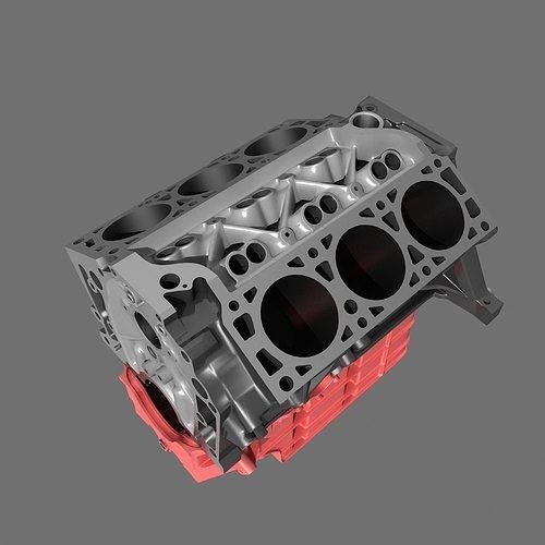 3d model car v6 engine cgtrader
