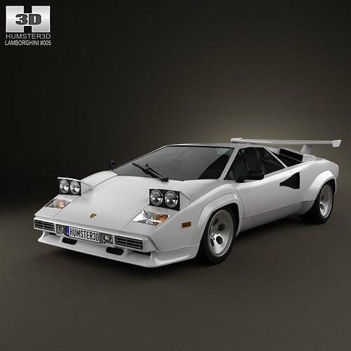 3d Lamborghini Countach 5000 Qv 1985 Cgtrader