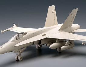 3D model McDonnell Douglas FA-18 Hornet airplane