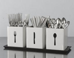 cutlery box 09 am145 3D