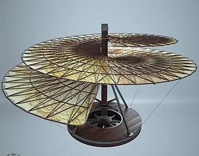 3D model AVE Leonardo da Vinci aeria screw