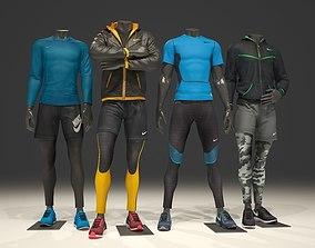 3D model Man mannequin Nike pack 1