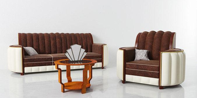 furniture set 03 am142 3d model obj mtl 1