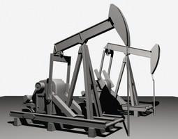 3d model oil field pump jack