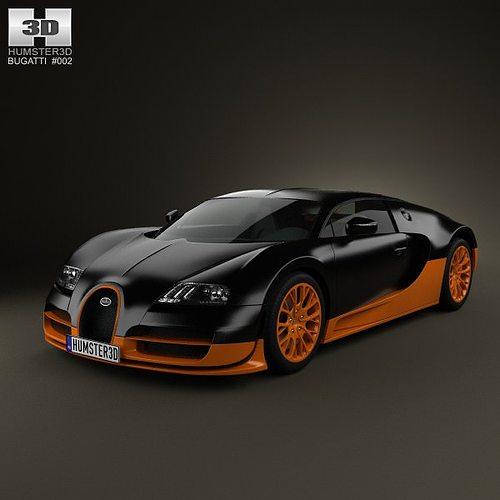 bugatti veyron grand-sport world-record-edition 2011 3d model max obj mtl 3ds fbx c4d lwo lw lws 1