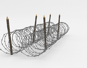 Barb Wire Obstacle 3D barbed