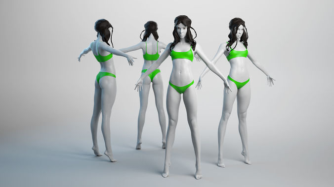female basemesh 04 3d model obj fbx ztl mud 1