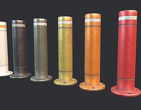Road Block Pillar PBR 3D model low-poly