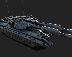 T1K Battle Tank 3D model game-ready