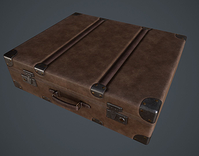 Lowpoly PBR Leather Briefcase 3D model