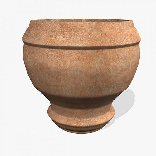 old mud pot 3d model max obj 3ds fbx ma mb 1