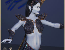 Elven Witch Light Version 3D model