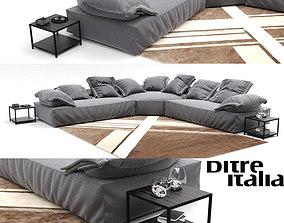 3D model Corner sofa Ditreitalia Flick Flack