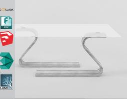 3D asset VR / AR ready modern table mesa